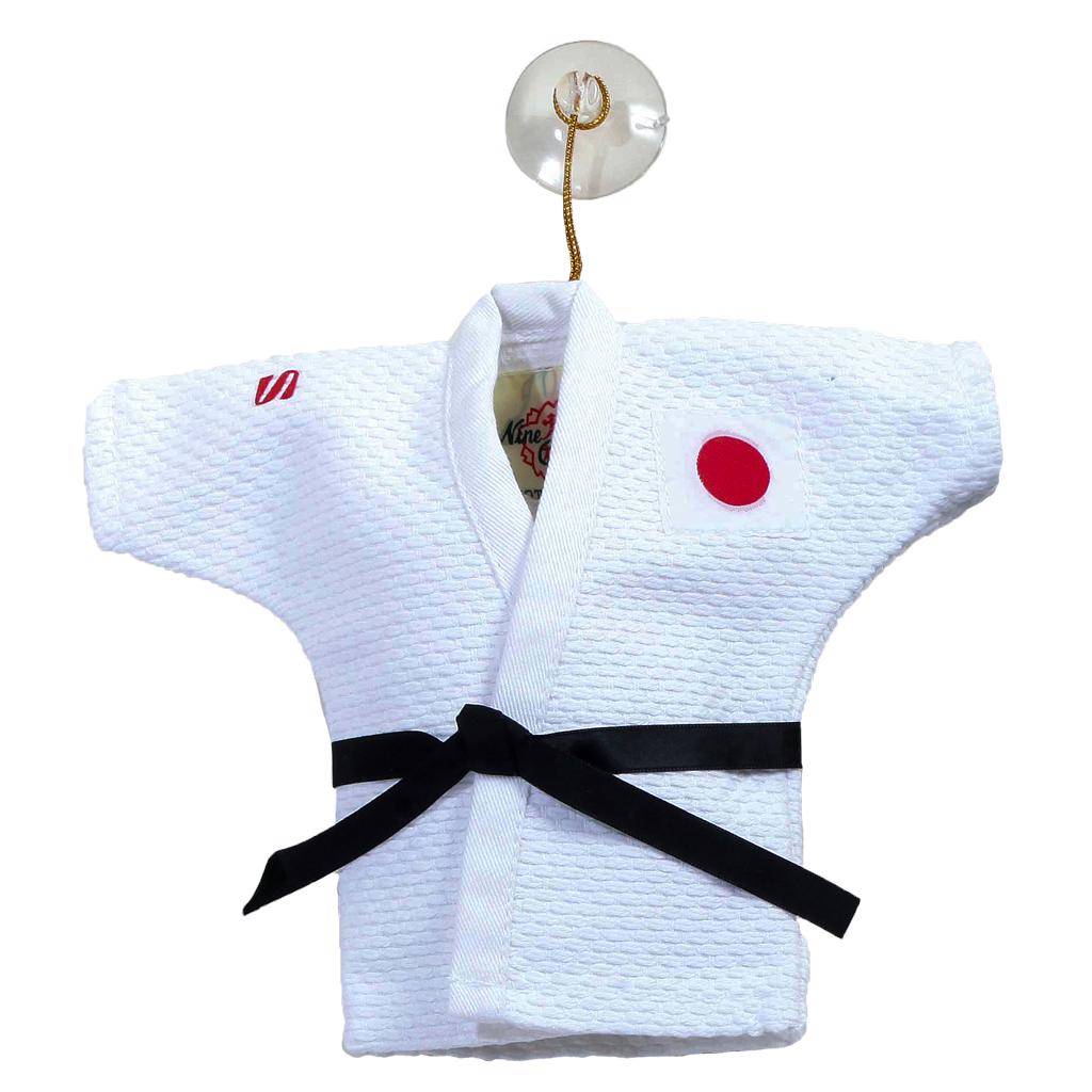 Mini White Judogi S mark KuSakura